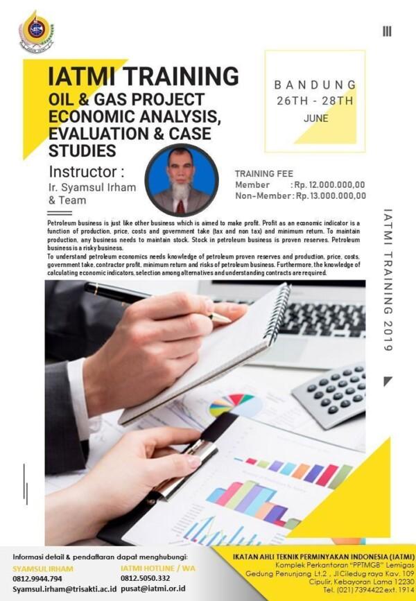 IATMI TRAINING Q2 Oil and Gas Project Economics