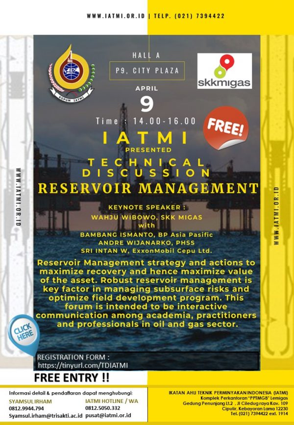 TECHNICAL DISCUSSION Reservoir Management